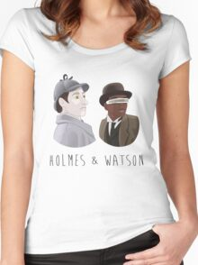 Cosmic Detectives Women's Fitted Scoop T-Shirt