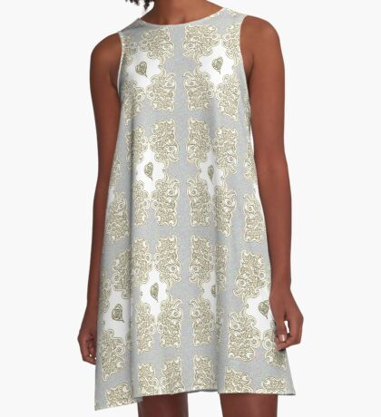 Golden Tribute A-Line Dress