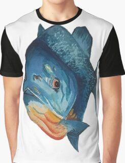 Piranha lurking, waterclour painting Graphic T-Shirt