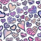 Hippie hearts - Pink by Gingerlique