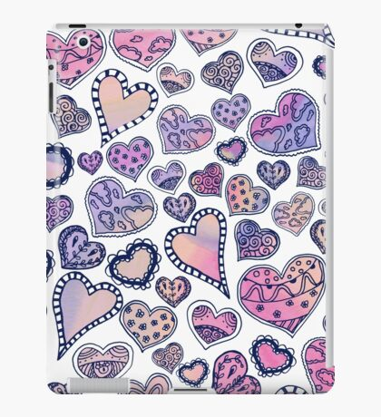Hippie hearts - Pink iPad Case/Skin