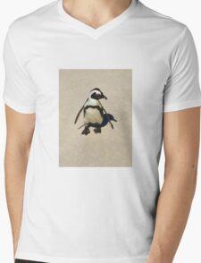Lone penguin Mens V-Neck T-Shirt