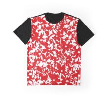 Crowded Flowers - Red Graphic T-Shirt