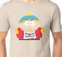 """Eric Cartman """"Keep your laws off my chicken"""" Unisex T-Shirt"""