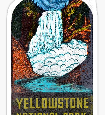 Yellowstone Park Vintage Sticker USA Sticker