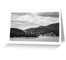 Dubrovnik Landscape BW Greeting Card