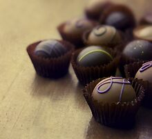 Set of chocolate pralines by JBlaminsky
