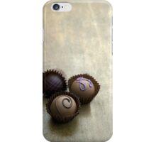 Set of three chocolate pralines iPhone Case/Skin