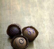Set of three chocolate pralines by JBlaminsky