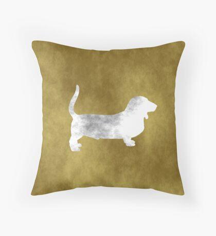 Basset Hound - Grunge style Throw Pillow