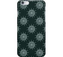 White doodle flower on black background. Simple seamless pattern. Hand drawn wallpaper.  iPhone Case/Skin