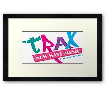 TRAX New Wave Music Framed Print