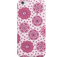 Pink floral seamless pattern. Pretty hand drawn doodle background. iPhone Case/Skin