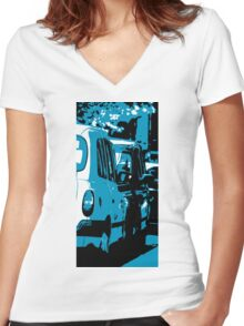 Hail Me a Cab Women's Fitted V-Neck T-Shirt