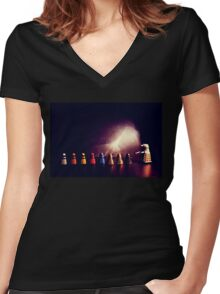 they go two by four by six by eight Women's Fitted V-Neck T-Shirt