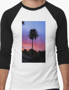 Lonely Sunset Palm Tree Men's Baseball ¾ T-Shirt
