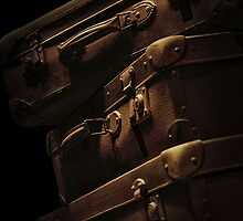 Brown travelling suitcases by JBlaminsky