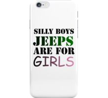 silly boys  iPhone Case/Skin