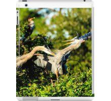 Great Blue Herons in Battle iPad Case/Skin