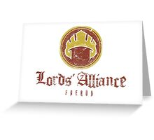 The Lords Alliance Greeting Card