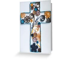 Quilled Floral Cross Greeting Card
