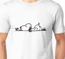 A Tired Snoopy Unisex T-Shirt