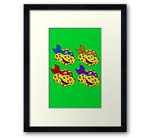 Pizza Turtles Framed Print
