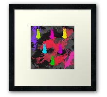 Totally 80's Spatter Painting Framed Print