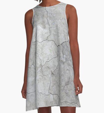 Concrete Texture 01 A-Line Dress
