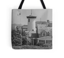 Lighthouse House on Cape Cod Tote Bag