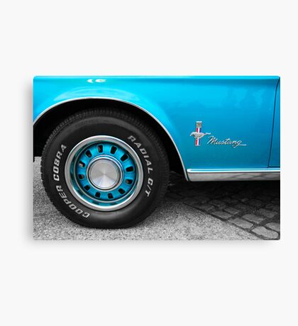 Ford Mustang Muscle Car Close Up Canvas Print