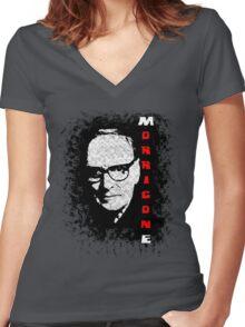 Ennio Morricone: Maestro series Women's Fitted V-Neck T-Shirt