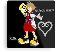 Kingdom Hearts-Sora-Font Metal Print