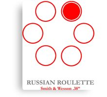 Russian Roulette Gamer Canvas Print