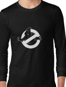 white Ghostbusters logo Long Sleeve T-Shirt