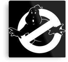 white Ghostbusters logo Metal Print