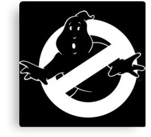 white Ghostbusters logo Canvas Print