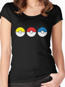 Poke Ball Teams Women's Fitted Scoop T-Shirt