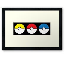 Poke Ball Teams Framed Print