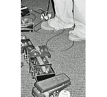 Guitar Pedals Photographic Print