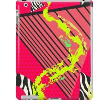 Totally Rad Red 1980s Geometric Pattern iPad Case/Skin