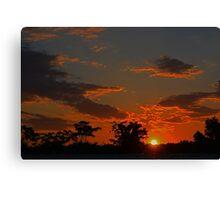 Sun slipping down Canvas Print