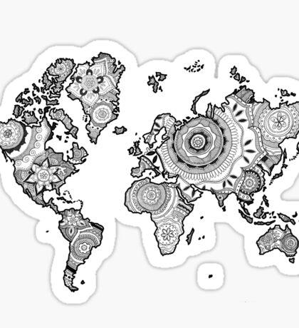 Mandala World Sticker