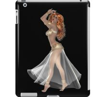 African American Woman with Red Hair Wearing Golden Belly Dance Clothing iPad Case/Skin