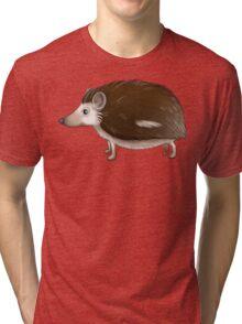 Cartoon Hedgehog Tri-blend T-Shirt