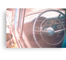 Old Chevy Dash & Wheel Canvas Print