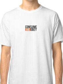 Consume and Obey Logo Basic Orange Classic T-Shirt
