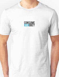 Consume and Obey Logo Basic Blue Unisex T-Shirt