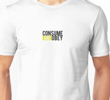 Consume and Obey Logo Basic Yellow Unisex T-Shirt
