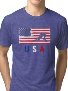 USA Judo 2016 competition wrestling judoka funny t-shirt Tri-blend T-Shirt